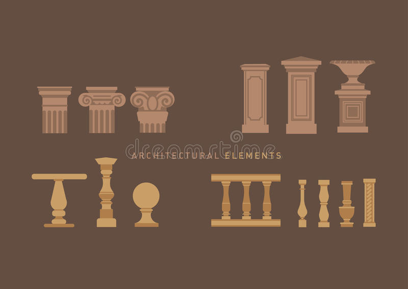 A large series of architectural elements. vector illustration