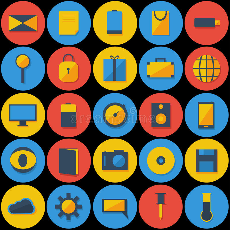 Download Large Set of Icons stock vector. Illustration of internet - 39790205