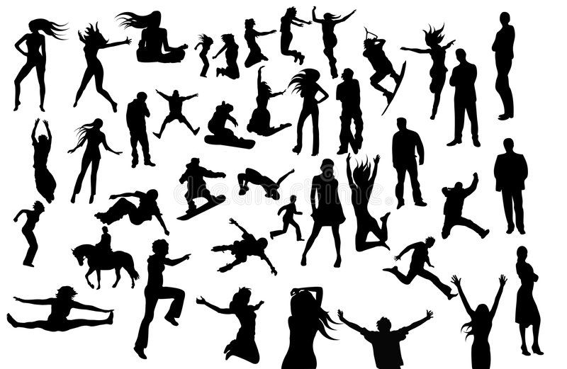 Download Large Set Of Vector Silhouettes Stock Vector - Illustration: 5845011
