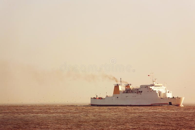 Download Large ship stock photo. Image of traveling, harbor, smoke - 29534240