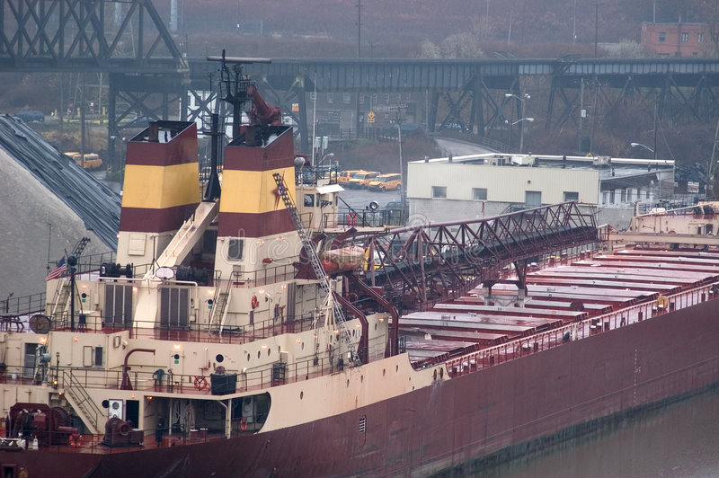 Large Ship At Dock Stock Images