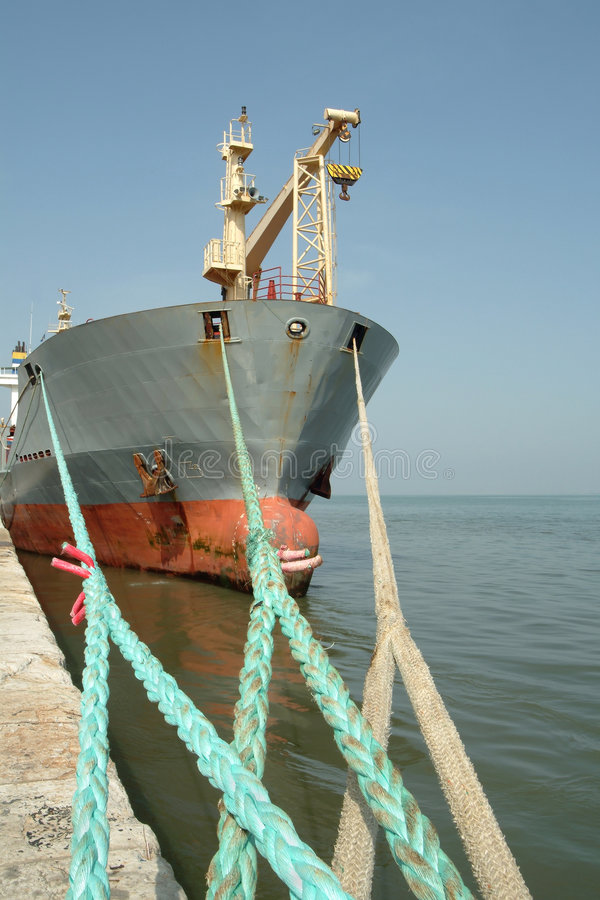 Download Large Ship Moored In The Port Stock Image - Image: 1662585