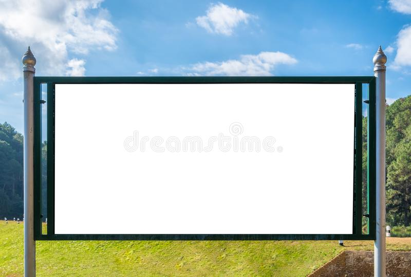 Large signboard white blank royalty free stock image