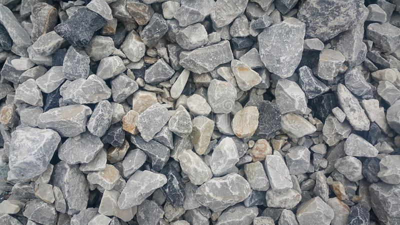 Large and small piles of limestone for use in lime kiln line royalty free stock images