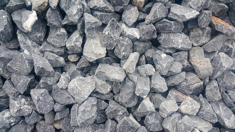 Large and small piles of limestone for use in lime kiln line royalty free stock photography