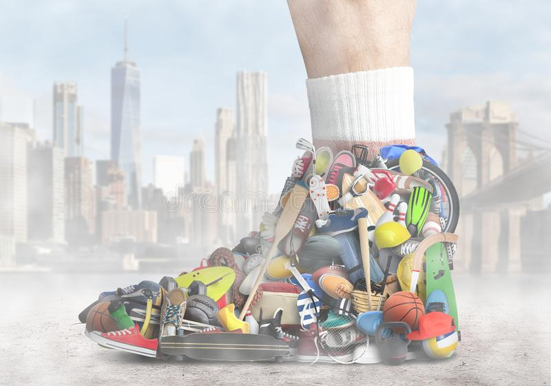 Large sneaker royalty free stock images