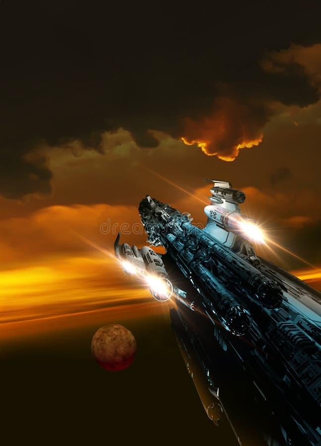 Large spaceship royalty free illustration