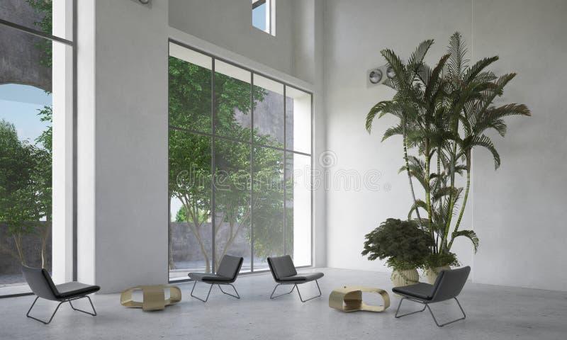 Large spacious waiting room or atrium stock photos