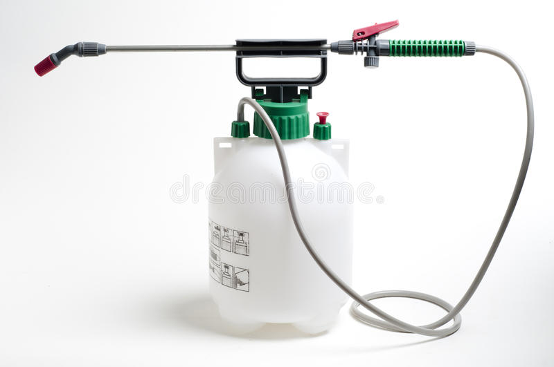 Large spray container and nozzle stock images