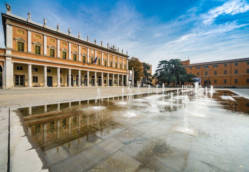 Square in Reggio Emilia royalty free stock photo