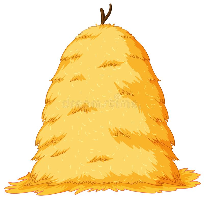 Large stack of hay. Illustration vector illustration