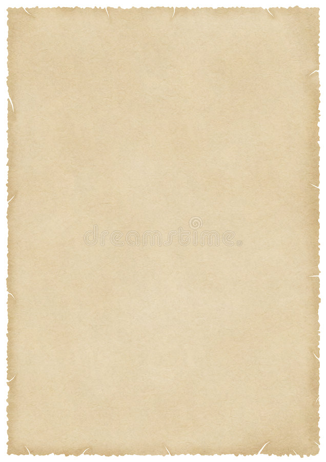 Large stained old paper with burned and torn edges vector illustration