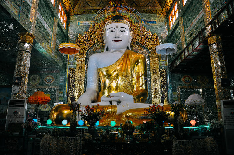 A large statue of Buddha in Mandalay. A large statue of Buddha in Mandalay, Myanmar royalty free stock photo