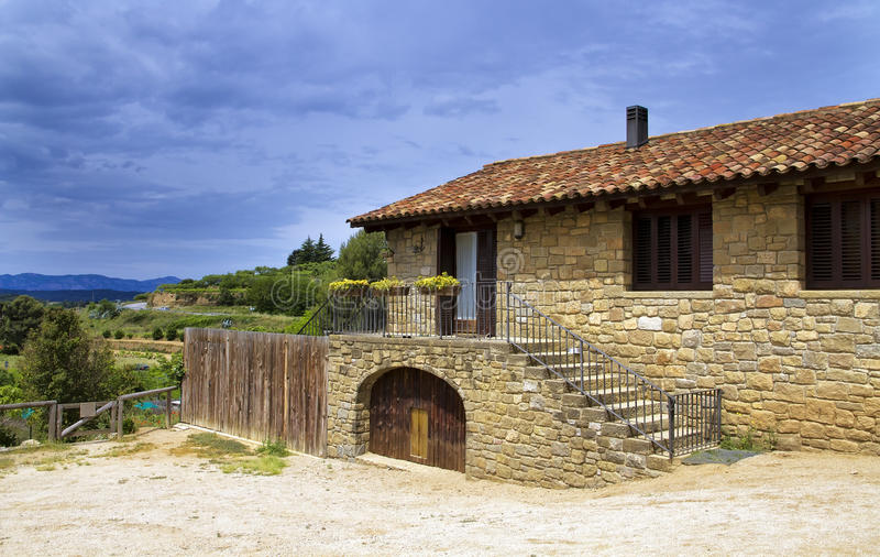Download Large Stone House, In The Valleys Of Catalonia Stock Photo - Image: 25141792