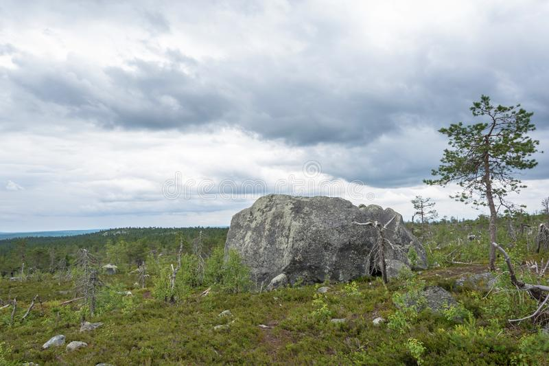 Large rocks boulders in the nature reserve of mount Vottovaara,. Large stones boulders in the nature reserve of mount Vottovaara, Karelia, Russia stock images