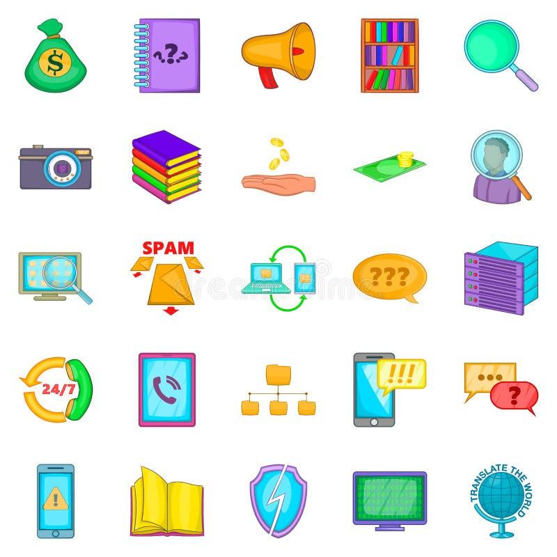 Large storage icons set, cartoon style royalty free illustration