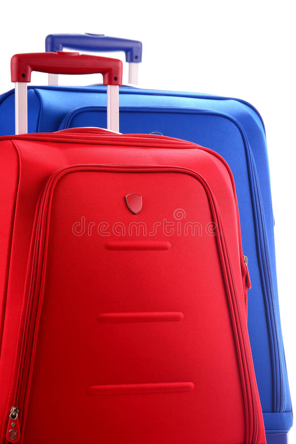 Download Large Suitcases Isolated On White Stock Photo - Image of station, product: 20524604
