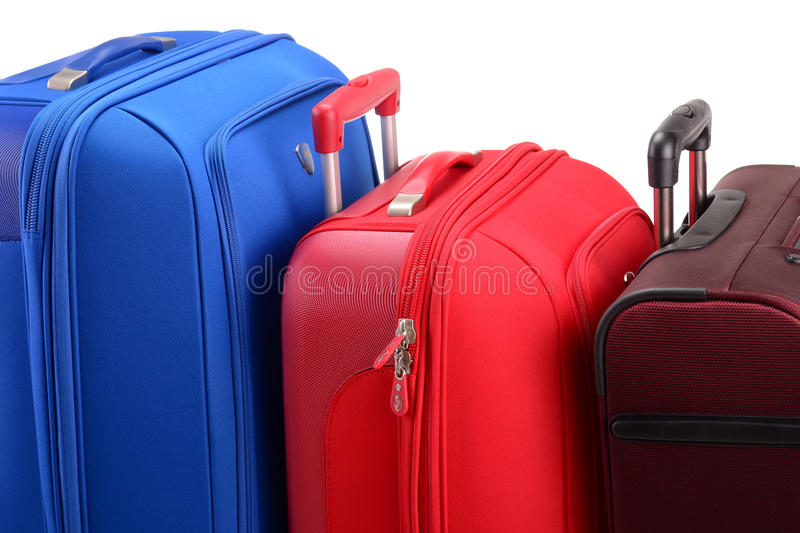 Large Suitcases Isolated On White Stock Images
