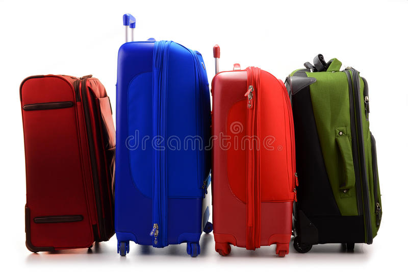 Large Suitcases Isolated On White Royalty Free Stock Image