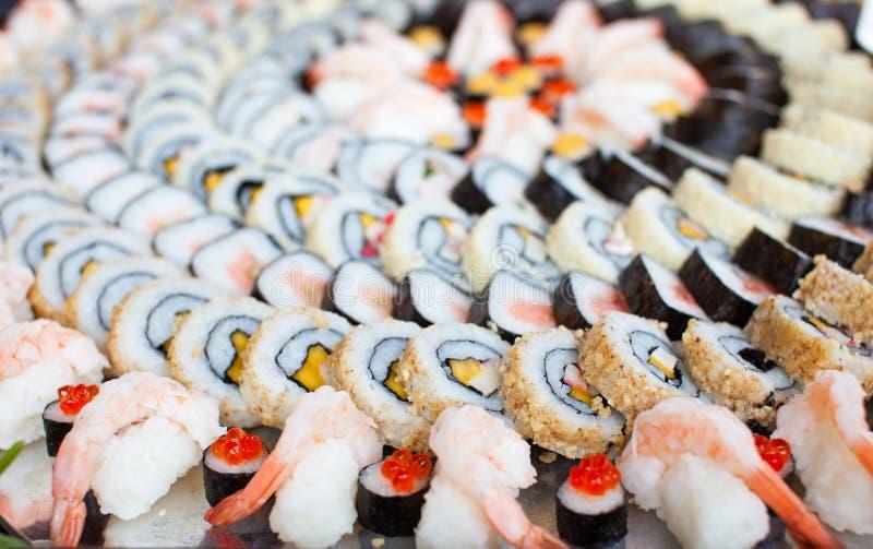 Large Sushi Platter stock images