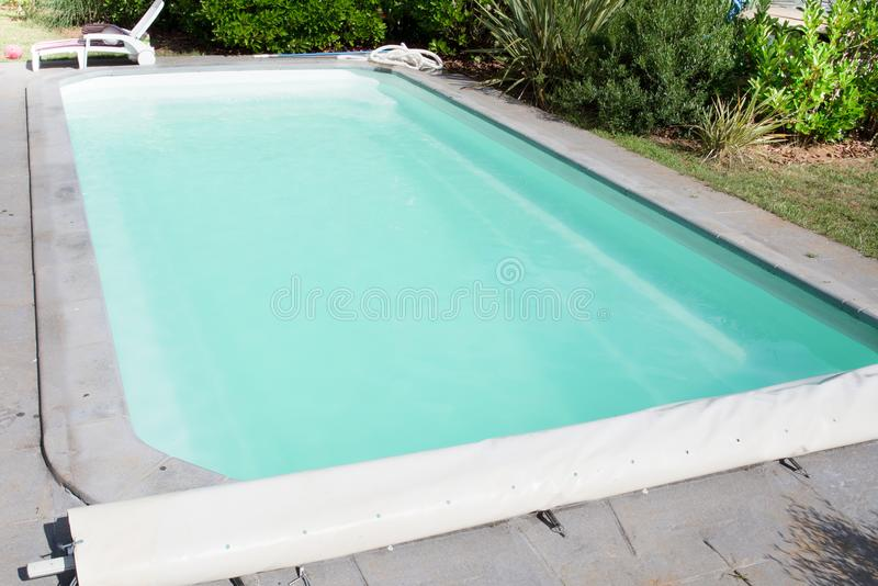 Large swimming pool from home house. Private large swimming pool from home house stock images