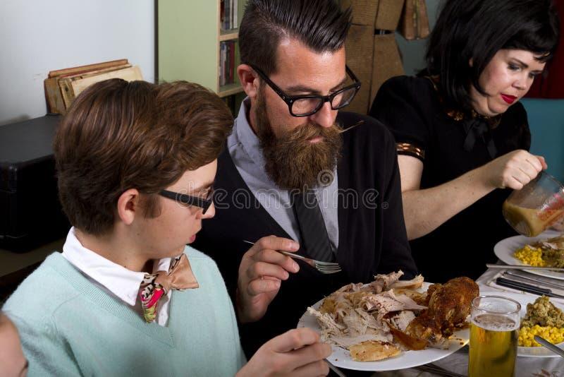Family Thanksgiving Dinner Turkey royalty free stock image