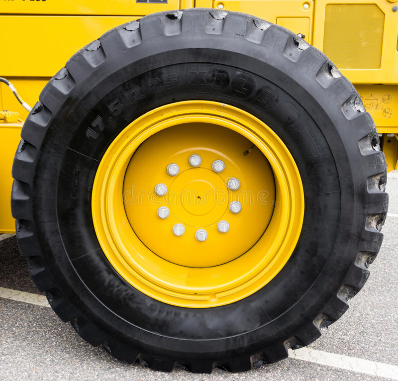 Large Tire royalty free stock photo
