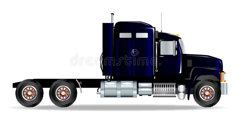 Large Truck Tractor Unit On A White Background royalty free illustration