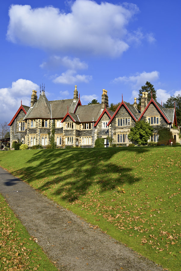 A large Victorian house royalty free stock photos