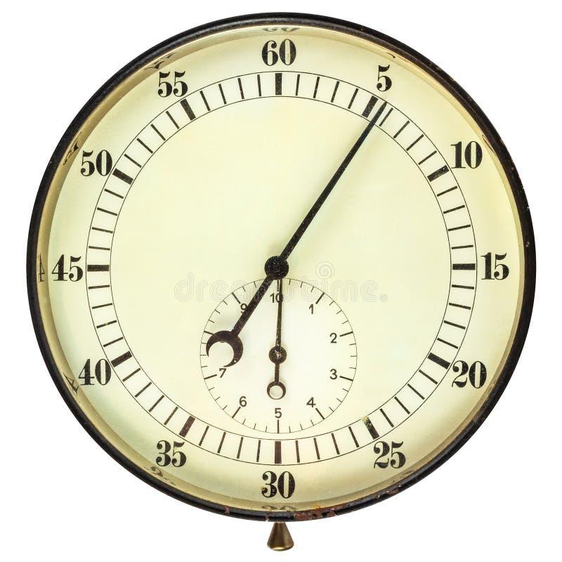 Large vintage stopwatch isolated on white stock image