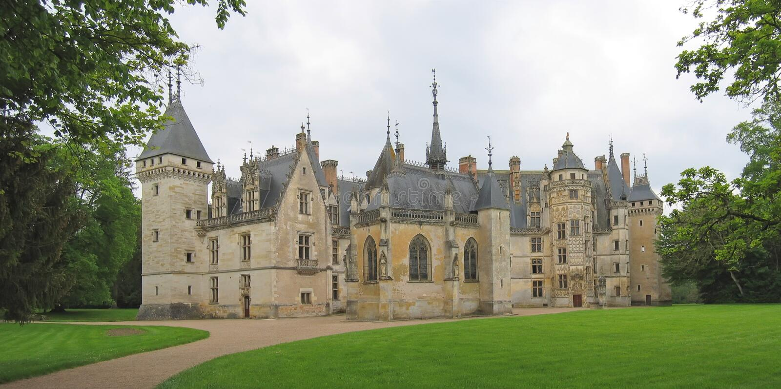 Download Large Vista Of A French Castle Stock Image - Image: 2351447