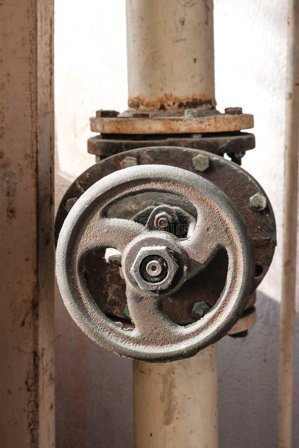 Large water valve royalty free stock image