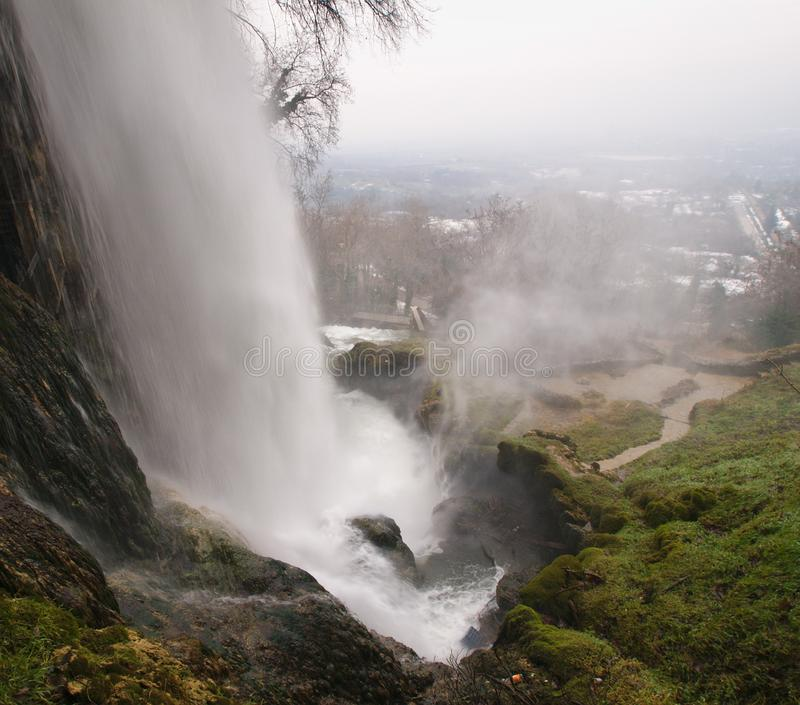 Large waterfall at Edessa falls in Greece. royalty free stock image