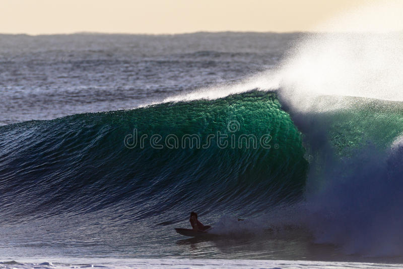 Large Wave Body Boarder royalty free stock photos