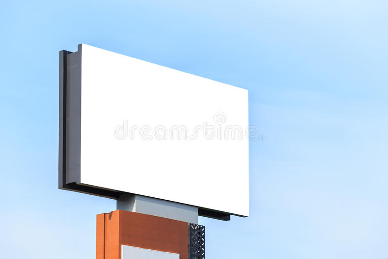Large white blank advertising billboard. For design and advertisement concept royalty free stock photography
