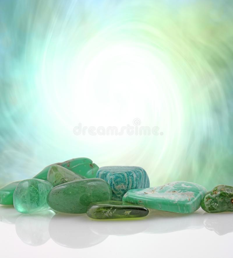 Green Healing Stones Copy Space Background royalty free stock photos