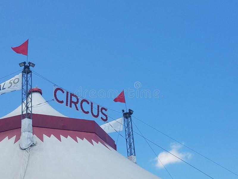 Large white circus tent royalty free stock photos