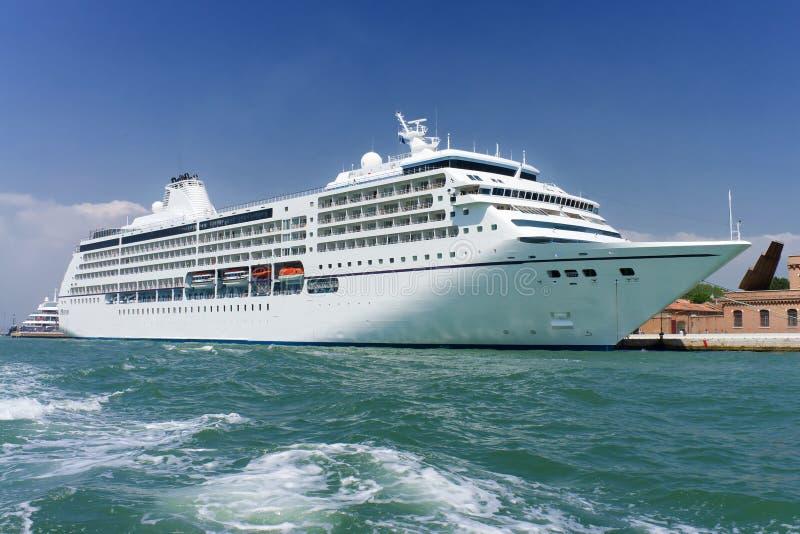 Large White Cruise Ship Royalty Free Stock Images