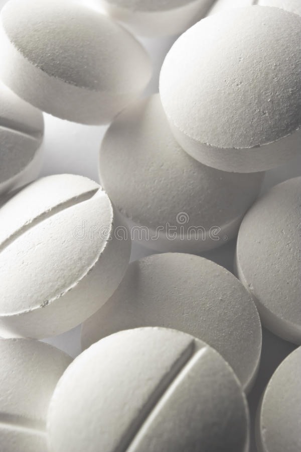 Download Large white pills macro stock image. Image of addiction - 25093043