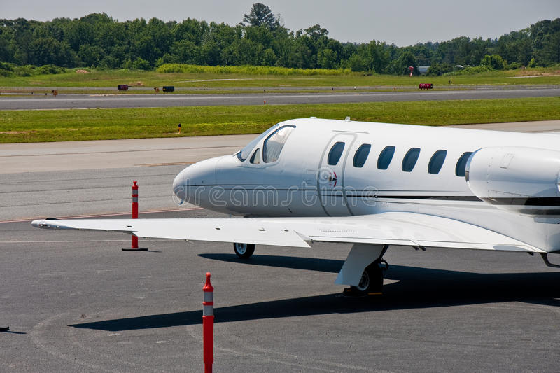 Download Large White Private Jet On Tarmac Stock Image - Image: 14851471