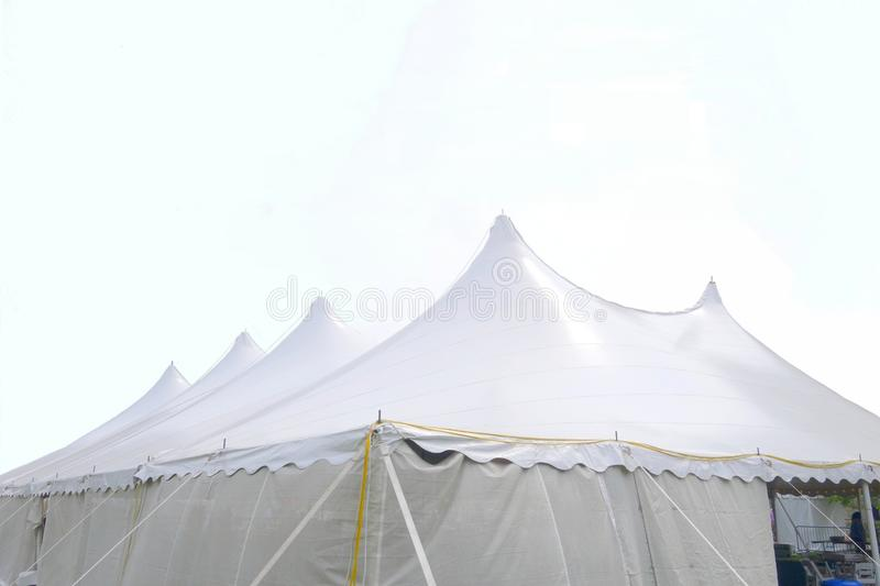 A large white wedding or events tent royalty free stock photography