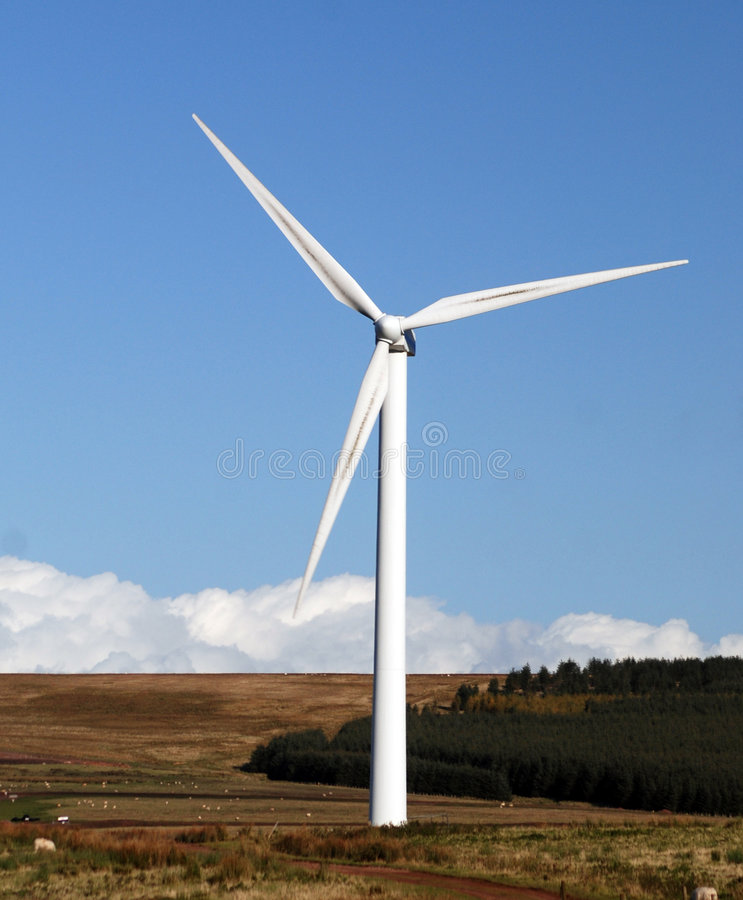 Download Large wind generator stock photo. Image of country, field - 7180934