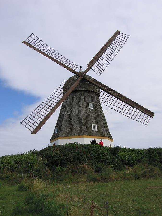 Large windmill stock photo