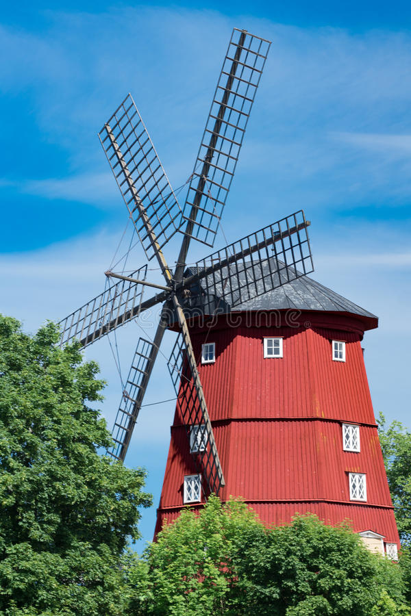 Large Windmill in Strängnäs Sweden stock photography