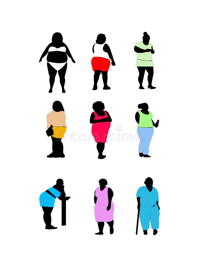 Download Large women stock vector. Image of extra, girl, illustrations - 2750004