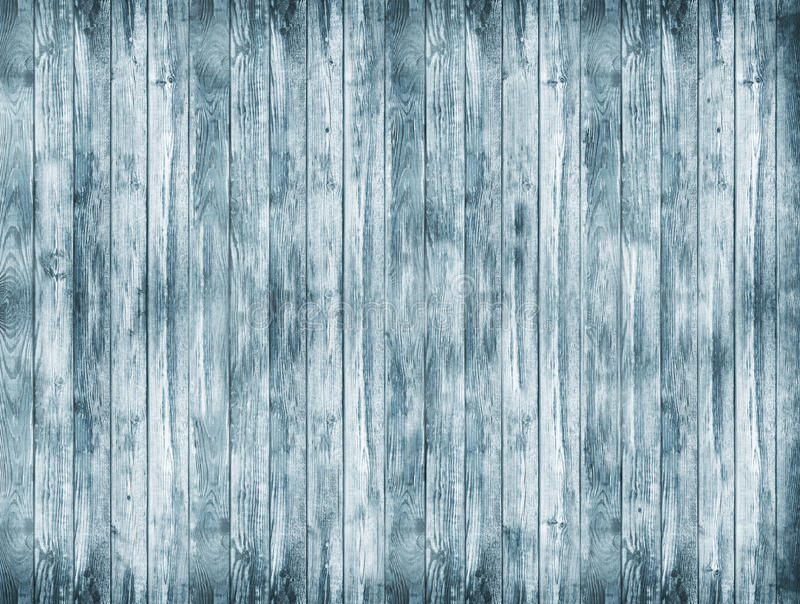 A large wooden background. A blue wood texture. Old boards background. stock photography