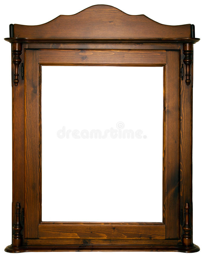 Large wooden frame. An isolated larger wooden frame