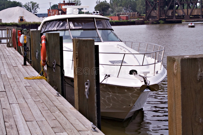 Large Yacht stock photo
