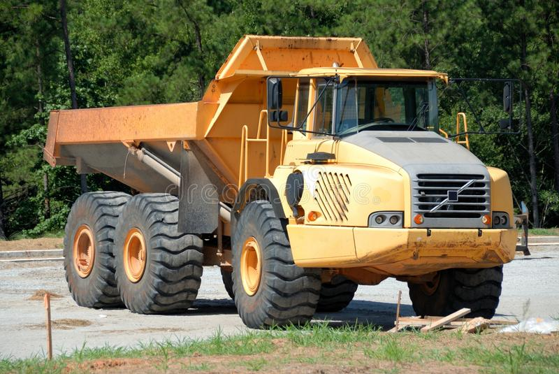 Dumper truck at construction site stock photography