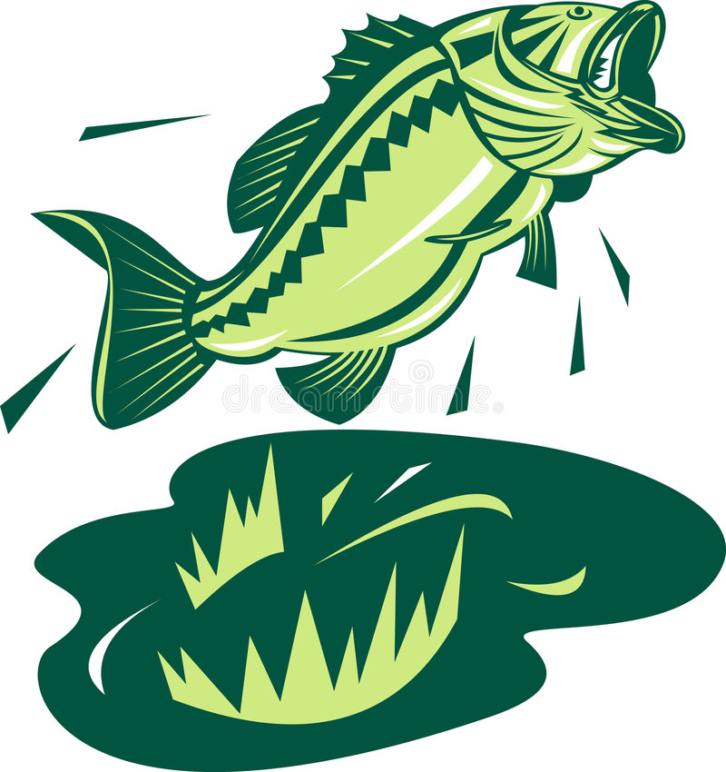 Download Largemouth bass stock illustration. Illustration of black - 7112701